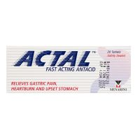 Actal Fast Acting Antacid - 20 Tablets