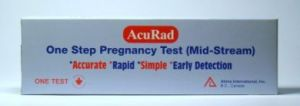 AcuRad One Step Pregnancy Test (Mid-Stream) - 1 Test