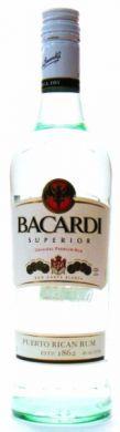 Bacardi Superior Original Premium Rum - 750 ml (40% alc by vol)