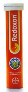 Bayer Redoxon Orange Flavour Effervescent Double Action Vitamin C + Zinc - 15 Tablets