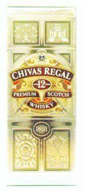 Chivas Regal Aged 12 Years Premium Scotch Whisky  (1801) - 750 ml (40% alc/vol)