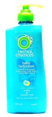 Clairol Herbal Essences Hello Hydration Moisturizing Shampoo for Dry / Damaged Hair - 735 ml