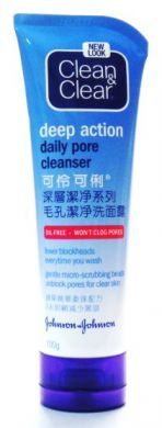 Clean & Clear Deep Action Daily Pore Cleanser (New Look) - 100 gm