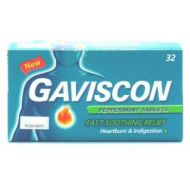 Gaviscon Peppermint Tablets - 32 Tablets