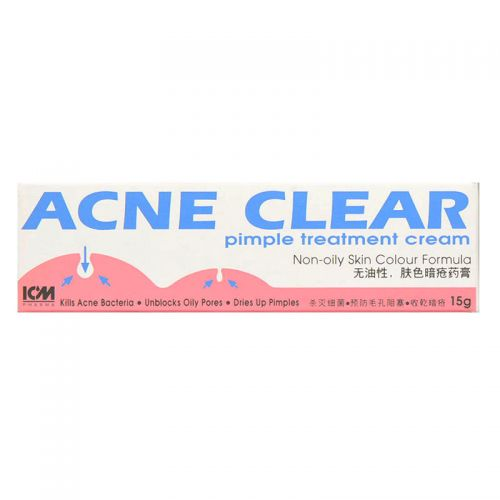 ICM Pharma Acne Clear Pimple Treatment Cream - 15 gm