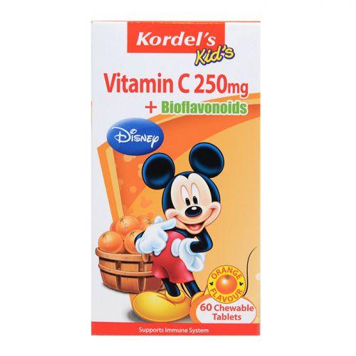 Kordel's Kid's Vitamin C 250mg + Bioflavonoids (Orange Flavour) - 60 Chewable Tablets