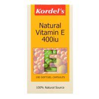 Kordel's Natural Vitamin E 400IU - 100 Softgel Capsules