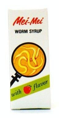 Mei-Mei Worm Syrup With Apple Flavor - 28 ml
