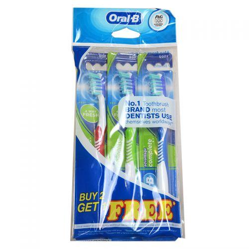 Oral-B 4 Way Fresh 35 Soft Toothbrush - 3 Toothbrush (Buy 2 Get 1 Free)