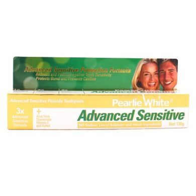 Pearlie White Advanced Sensitive Fluoride Toothpaste - 130gm