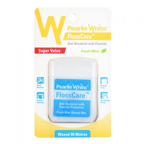 Pearlie White FlossCare (Fresh Mint) - Super Value Waxed 90 meters