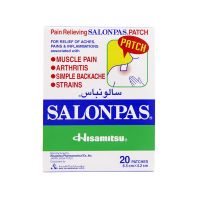 Salonpas Pain Relief Patch - 20 Patches (6.5cm X 4.2cm)