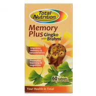 Total Nutrition Memory Plus Gingko with Brahmi - 60 Tablets