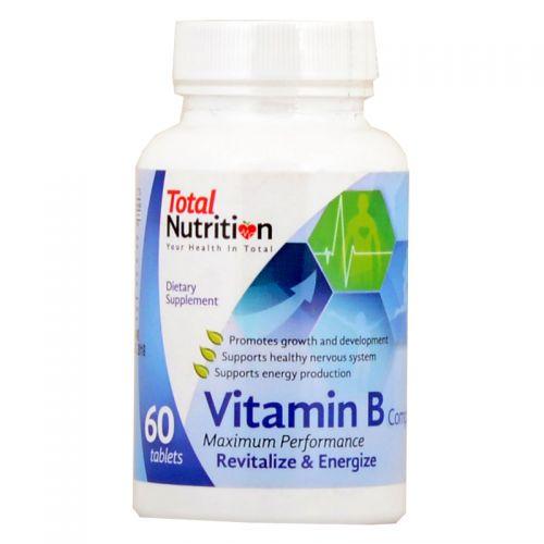 Total Nutrition Vitamin B Complex - 60 Tablets