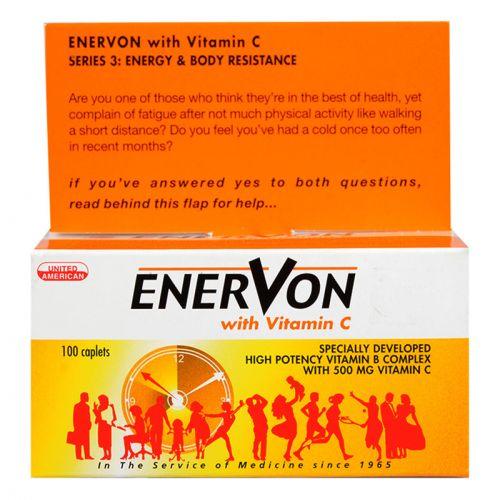 United American Enervon with Vitamin C - 100 Caplets