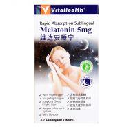 VitaHealth Melatonin 5mg - 60 Sublingual Tablets