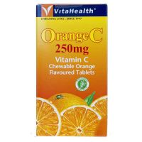 VitaHealth Orange C 250mg Vitamin C - 100 Chewable Orange Flavoured Tablets