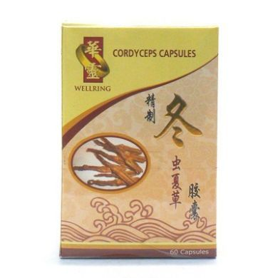 Wellring Cordyceps Capsules - 60 Capsules