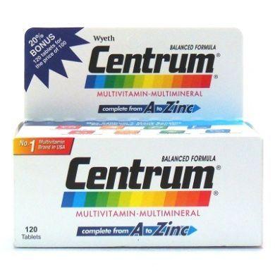 Wyeth Centrum Multivitamins-Multiminerals - 100 Tablets