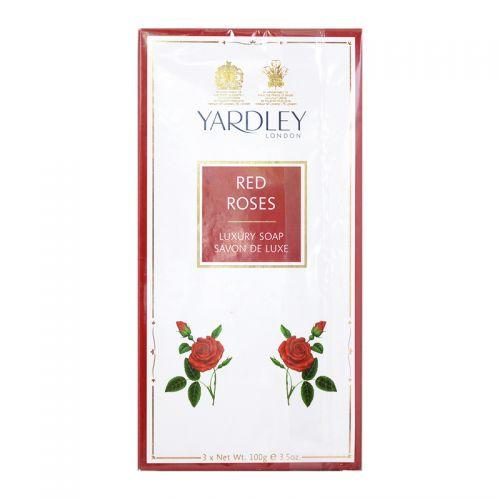 Yardley London Red Rose Luxury Soap - 3 x 100g