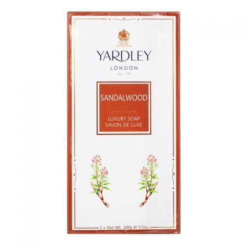 Yardley London Sandalwood Luxury Soap - 3 x 100g